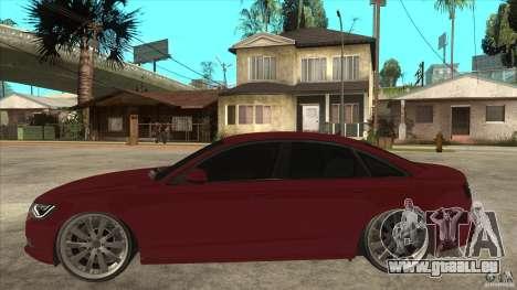 Audi A6 (C7) pour GTA San Andreas laissé vue