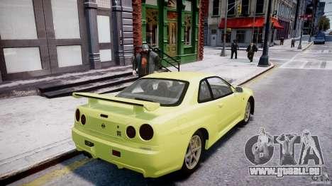 Nissan Skyline R-34 V-spec pour GTA 4 roues