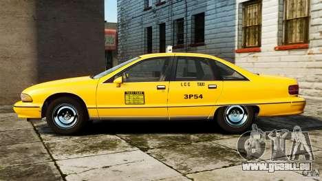 Chevrolet Caprice 1991 LCC Taxi pour GTA 4 est une gauche
