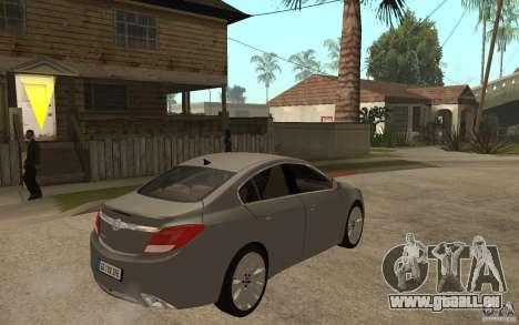 Opel Insignia 2010 für GTA San Andreas rechten Ansicht