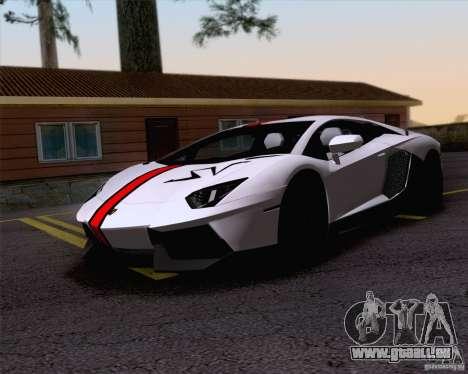 Travaux de peinture Lamborghini Aventador LP700- pour GTA San Andreas