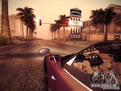 Pagani Zonda Tricolore 2010 pour GTA San Andreas vue intérieure