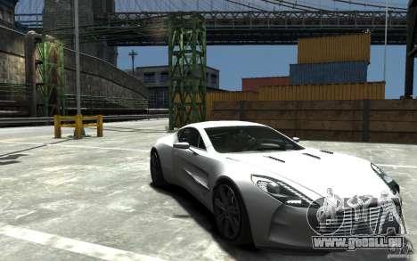 Aston Martin One 77 für GTA 4 Rückansicht