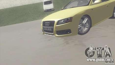 Audi S5 pour GTA San Andreas vue arrière