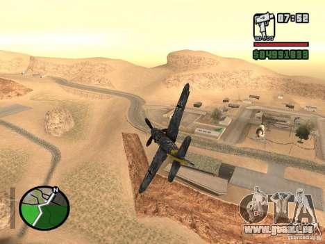 BF-109 G-16 für GTA San Andreas linke Ansicht