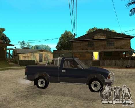 1996 Chevrolet Blazer pickup pour GTA San Andreas vue de droite