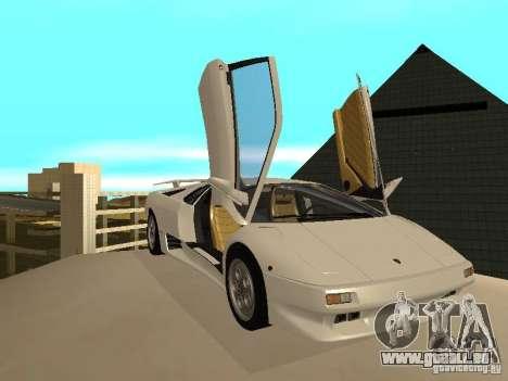 Lamborghini Diablo VT 1995 V2.0 pour GTA San Andreas vue intérieure