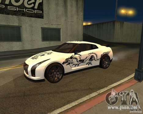Nissan GT-R Pronto pour GTA San Andreas vue arrière