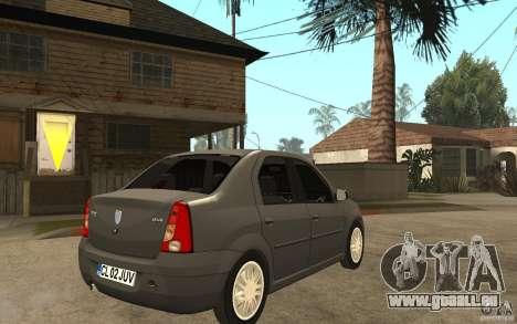 Dacia Logan Prestige 1.6 16v pour GTA San Andreas vue de droite