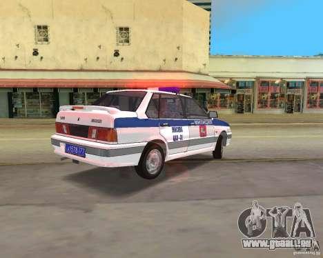 DPS VAZ 2115 pour une vue GTA Vice City de la gauche