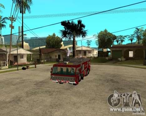 Rosenbauer Simba 8x8 GFLF FDSA für GTA San Andreas Rückansicht
