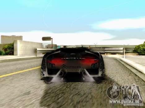 Citroen GT Gymkhana pour GTA San Andreas vue intérieure