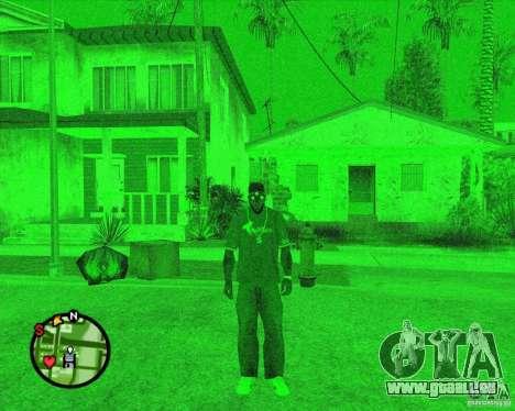 Dispositif de vision nocturne, lunettes de Splin pour GTA San Andreas deuxième écran