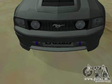 Ford Mustang GTS pour GTA San Andreas vue de droite