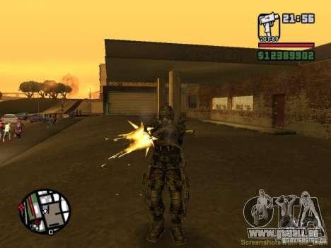 Stalker militaire en èkzoskelete pour GTA San Andreas cinquième écran
