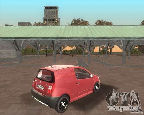 Citroen C2 workers car für GTA San Andreas Rückansicht