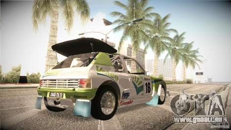 Peugeot 205 T16 für GTA San Andreas obere Ansicht