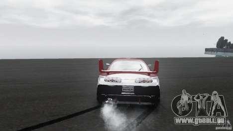 Toyota Supra Apexi Race System pour GTA 4 Vue arrière