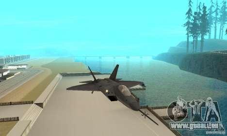 YF-22 Black pour GTA San Andreas vue intérieure
