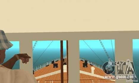 RMS Titanic pour GTA San Andreas vue de dessus