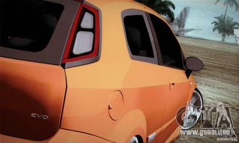 Fiat Punto Evo 2010 Edit für GTA San Andreas rechten Ansicht