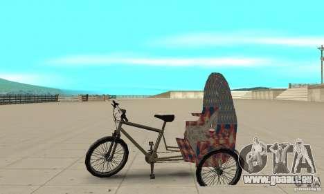 Manual Rickshaw v2 Skin5 pour GTA San Andreas laissé vue