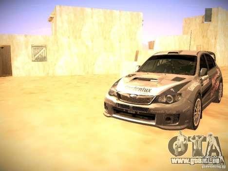 Subaru impreza Tarmac Rally pour GTA San Andreas salon