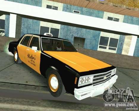 Chevrolet Impala 1986 Taxi Cab pour GTA San Andreas