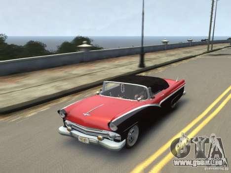Ford Sunliner Custom 1956 pour GTA 4 est un côté