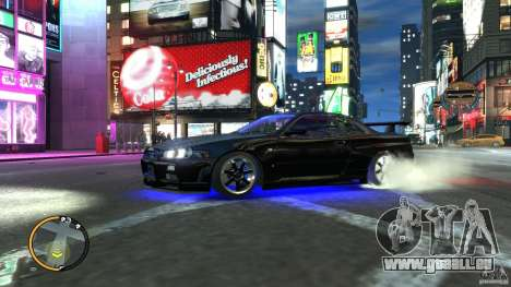 Nissan SkyLine R34 GT-R V-spec II für GTA 4