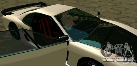 New Turismo pour GTA San Andreas vue de dessus