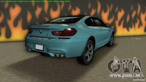 BMW M6 2013 pour GTA Vice City sur la vue arrière gauche
