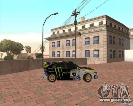 Subaru Impreza Ken Block für GTA San Andreas linke Ansicht