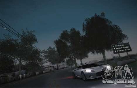 Spyker C8 Aileron pour GTA San Andreas vue intérieure