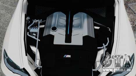 BMW X5M pour GTA 4 Vue arrière