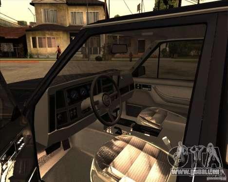 Jeep Cherokee pour GTA San Andreas vue arrière