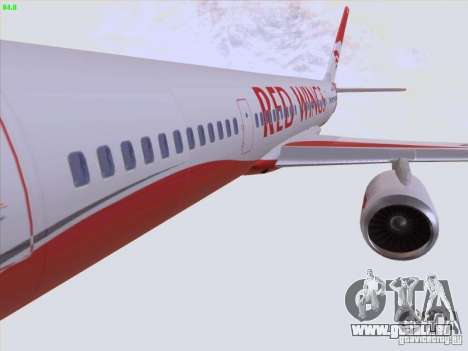 Tupolev Tu-204 Red Wings Airlines für GTA San Andreas Unteransicht