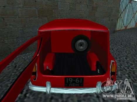 Moskvich 430 pour GTA San Andreas vue de droite