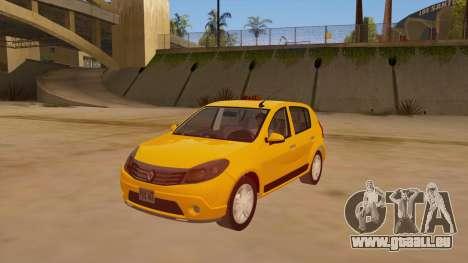Renault Sandero Taxi für GTA San Andreas