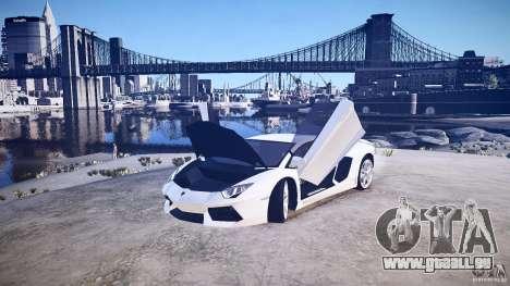 Lamborghini Aventador LP700-4 v1.0 für GTA 4 Rückansicht