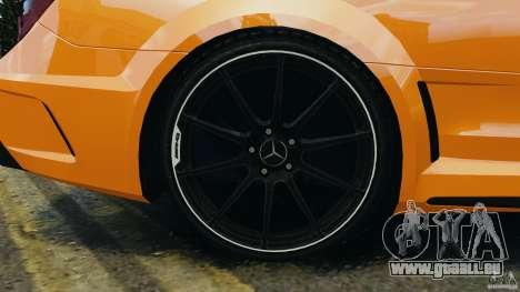Mercedes-Benz C63 AMG 2012 pour GTA 4 vue de dessus