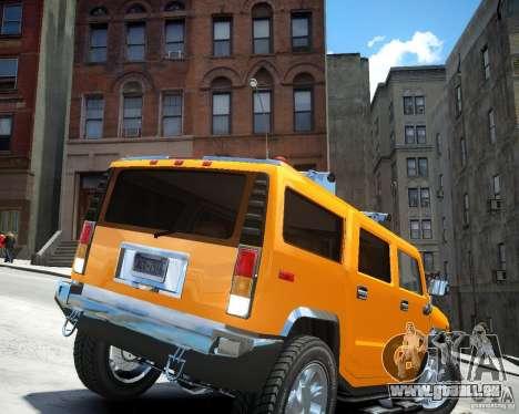 Hummer H2 2010 Limited Edition pour GTA 4 Vue arrière de la gauche