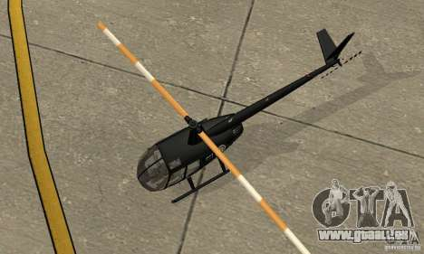 Robinson R44 Raven II NC 1.0 noir pour GTA San Andreas vue arrière