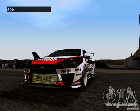 Mitsubishi Lancer Evo X 2008 pour GTA San Andreas laissé vue
