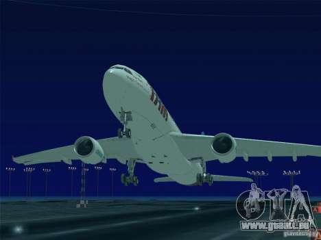 Airbus A330-223 TAM Airlines für GTA San Andreas Unteransicht
