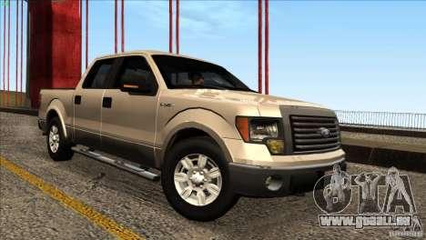 Ford F150 XLT SuperCrew 2010 pour GTA San Andreas vue de droite