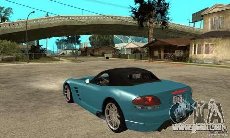 Dodge Viper SRT-10 pour GTA San Andreas sur la vue arrière gauche