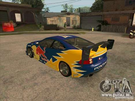 Pontiac GTO Red Bull pour GTA San Andreas sur la vue arrière gauche
