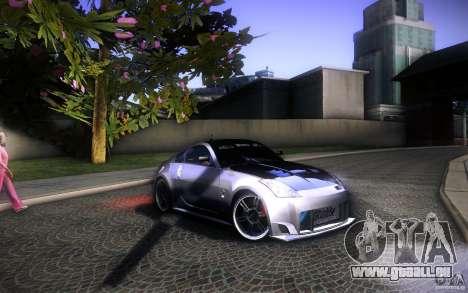 Nissan 350Z Fairlady pour GTA San Andreas vue de dessus