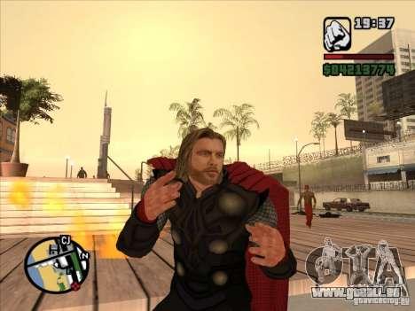 Thor pour GTA San Andreas deuxième écran